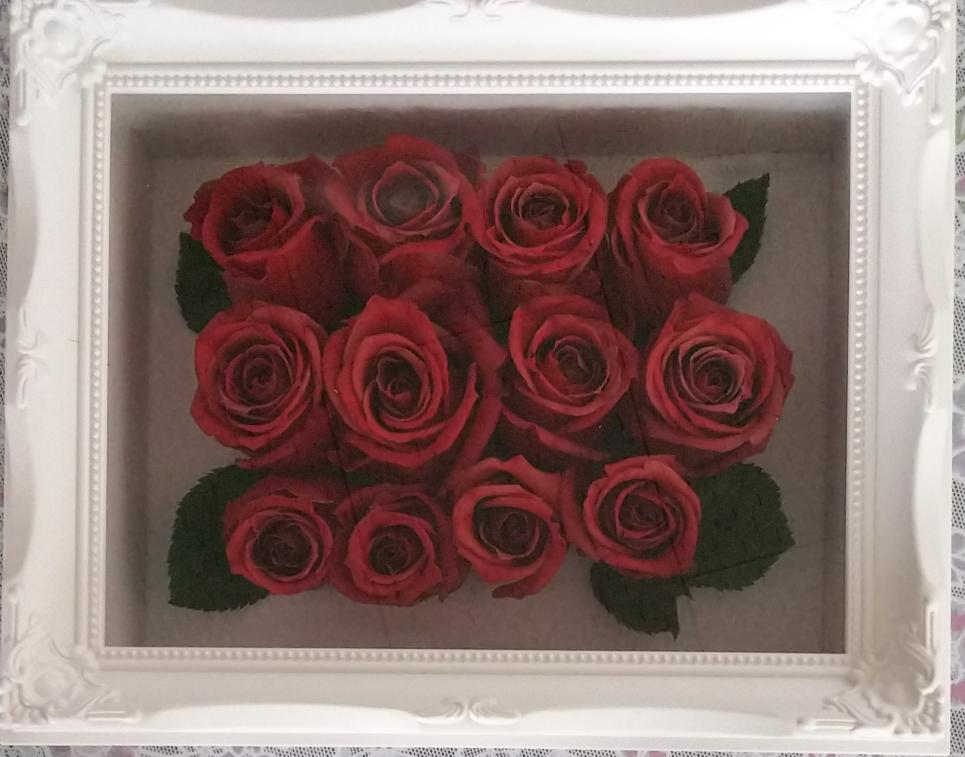 プロポーズの赤いバラの加工